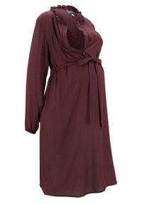 Sukienka ciążowa i do karmienia piersią bonprix ciemnoniebieski wzorzysty. Kolekcja: moda ciążowa. Kolor: niebieski