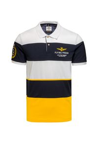 Żółta koszulka polo Aeronautica Militare z aplikacjami, polo