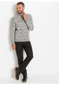 Szary sweter bonprix z golfem, melanż #6