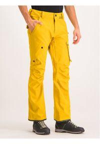 Żółte spodnie sportowe Volcom snowboardowe