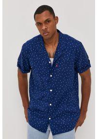 Niebieska koszula Levi's® na spotkanie biznesowe, klasyczna, z klasycznym kołnierzykiem