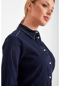 TwinSet - KOSZULA JEANSOWA ACTITUDE TWINSET. Okazja: na co dzień. Materiał: jeans. Styl: casual, elegancki