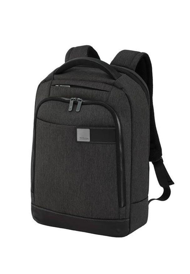 Czarny plecak TITAN w kolorowe wzory, biznesowy