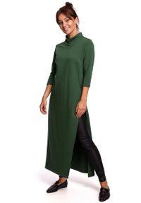 Zielona sukienka dzianinowa MOE maxi
