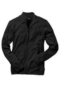 Bluza rozpinana ze stójką bonprix czarny. Typ kołnierza: kołnierzyk stójkowy. Kolor: czarny. Styl: sportowy