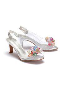 Srebrne sandały Brenda Zaro