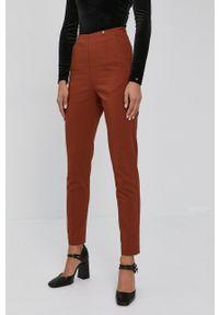 Nissa - NISSA - Spodnie. Kolor: brązowy. Materiał: materiał