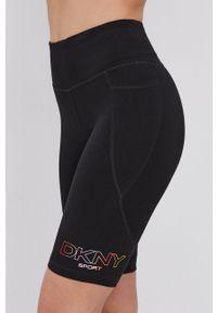 DKNY - Dkny - Szorty. Kolor: czarny. Materiał: dzianina. Wzór: nadruk