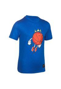TARMAK - Koszulka koszykarska dla dzieci Tarmak FLYING BAL. Materiał: materiał, poliester. Sport: koszykówka