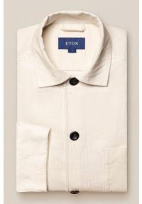 Eton - Koszula bawełniana. Okazja: na co dzień. Typ kołnierza: kołnierzyk klasyczny. Kolor: biały. Materiał: bawełna. Długość rękawa: długi rękaw. Długość: długie. Styl: klasyczny, casual