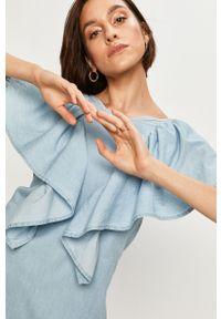 Niebieska sukienka ANSWEAR mini, na co dzień