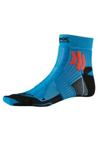 Skarpety do biegania X-Socks Trail Run Energy XSRS13. Materiał: poliamid, elastan, włókno. Wzór: ze splotem. Sport: bieganie