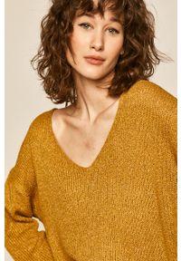 Oliwkowy sweter medicine casualowy, na co dzień