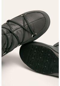 Szare śniegowce Moon Boot na sznurówki, z cholewką #4