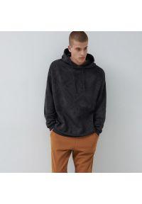 House - Wzorzysta bluza z kapturem oversize - Szary. Typ kołnierza: kaptur. Kolor: szary