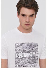 s.Oliver - s. Oliver - T-shirt bawełniany. Okazja: na co dzień. Kolor: biały. Materiał: bawełna. Wzór: nadruk. Styl: casual #3