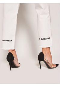 Białe jeansy Karl Lagerfeld
