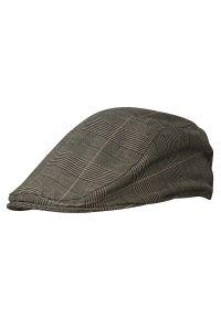 Brązowa czapka EM Men's Accessories w kratkę, na lato