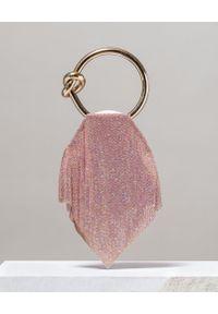BENEDETTA BRUZZICHES - Torebka z kryształów Casper Light Rose Medium. Kolor: różowy, fioletowy, wielokolorowy. Styl: elegancki. Rodzaj torebki: do ręki