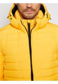 Superdry Kurtka puchowa Hooded Fuji M5010201A Żółty Regular Fit. Kolor: żółty. Materiał: puch