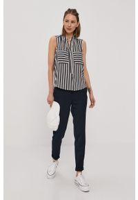 Niebieskie spodnie materiałowe Vero Moda na co dzień, casualowe, gładkie