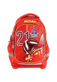 Czerwony plecak Goal w kolorowe wzory