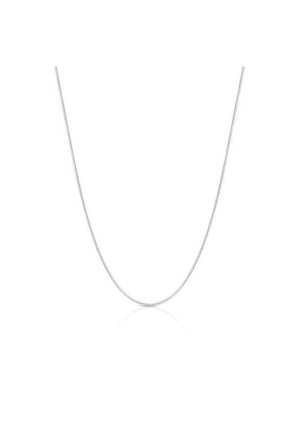 W.KRUK Wspaniały Srebrny Łańcuszek - srebro 925 - SCR/LS068. Materiał: srebrne. Kolor: srebrny. Wzór: ze splotem, geometria