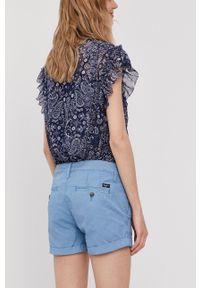 Pepe Jeans - Szorty Balboa. Okazja: na co dzień. Kolor: niebieski. Materiał: tkanina. Wzór: gładki. Styl: casual