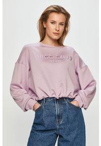 Fioletowa bluza Miss Sixty długa, bez kaptura, z aplikacjami