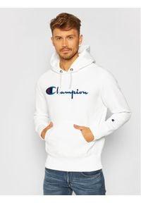 Champion Bluza Script Logo 215210 Biały Custom Fit. Kolor: biały