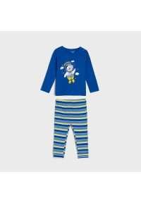 Sinsay - Piżama dwuczęściowa - Niebieski. Kolor: niebieski