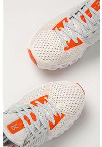 Białe buty sportowe On Running na sznurówki, do biegania