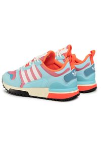 Adidas - Buty adidas - Zx 700 Hd J FY2653 Hazros/Hazsky/Solred. Okazja: na spacer. Zapięcie: sznurówki. Kolor: niebieski. Materiał: skóra, materiał. Szerokość cholewki: normalna