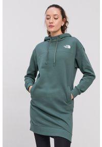 The North Face - Bluza bawełniana. Typ kołnierza: kaptur. Kolor: zielony. Materiał: bawełna. Długość rękawa: długi rękaw. Długość: długie