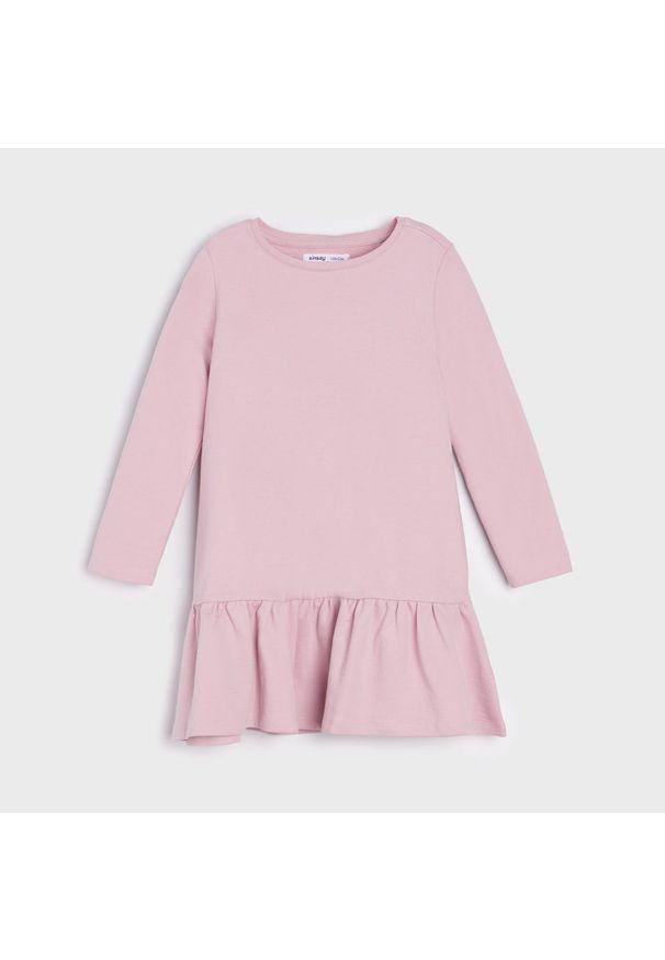 Sinsay - Sukienka basic - Fioletowy. Kolor: fioletowy