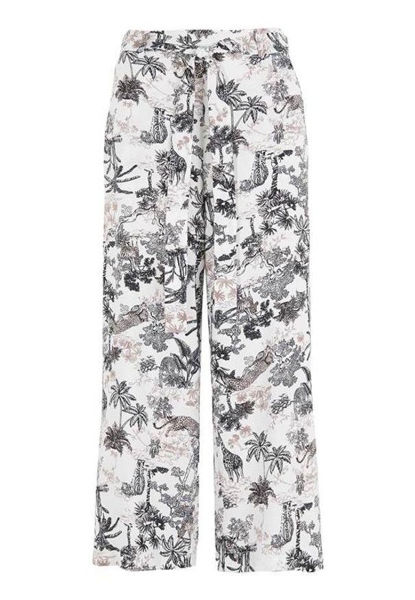 Cellbes Spodnie typu culotte z szerokimi nogawkami we wzory female ze wzorem 38/40. Materiał: wiskoza, włókno, tkanina. Styl: elegancki
