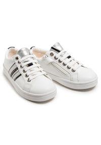 Geox - Sneakersy GEOX - J Djrock G. H J024MH 00085 C0007 S White/Silver. Kolor: biały. Materiał: skóra