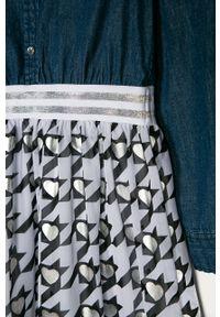 Niebieska sukienka Guess z długim rękawem, mini