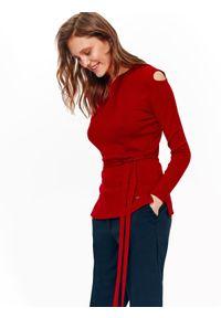 Czerwony sweter TOP SECRET casualowy, na co dzień