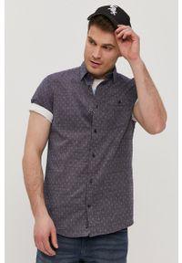 Tom Tailor - Koszula. Typ kołnierza: kołnierzyk klasyczny. Kolor: niebieski. Materiał: bawełna, tkanina. Długość rękawa: krótki rękaw. Długość: krótkie. Styl: klasyczny