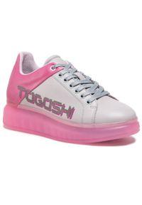 Togoshi - Sneakersy TOGOSHI - TG-22-06-000362 612. Okazja: na co dzień. Kolor: wielokolorowy, różowy, fioletowy. Materiał: skóra. Sezon: lato. Obcas: na płaskiej podeszwie. Styl: elegancki, sportowy, casual