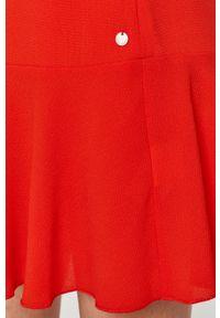 Czerwona sukienka Pepe Jeans bez rękawów, gładkie