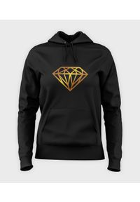 MegaKoszulki - Bluza damska z kapturem Diamond Gold. Typ kołnierza: kaptur