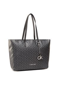 Czarna shopperka Calvin Klein klasyczna, skórzana