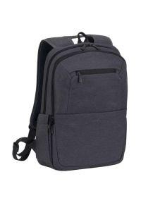 Czarny plecak na laptopa RIVACASE w kolorowe wzory