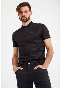 Koszulka polo Emporio Armani z nadrukiem, polo, sportowa