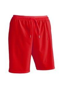 KIPSTA - Spodenki do piłki nożnej F500. Kolor: czerwony. Materiał: poliamid, elastan, poliester, materiał. Sport: bieganie