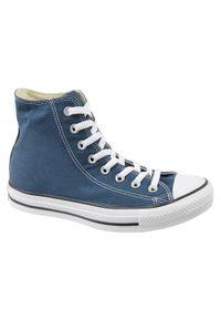 Niebieskie trampki Converse w kolorowe wzory, z cholewką