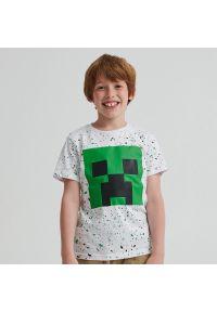 Reserved - Bawełniany t-shirt Minecraft - Biały. Kolor: biały. Materiał: bawełna