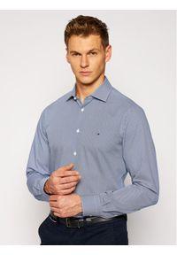 Tommy Hilfiger Tailored Koszula Poplin Design TT0TT08270 Granatowy Slim Fit. Kolor: niebieski